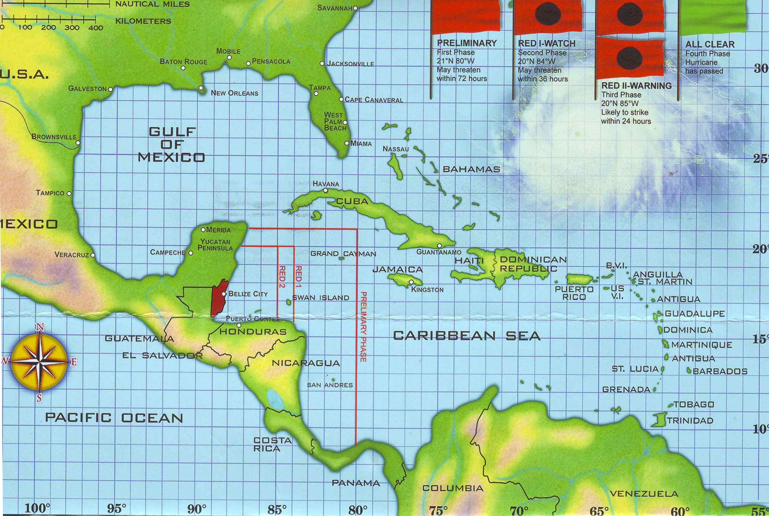 Belize Hurricane Tracking Map