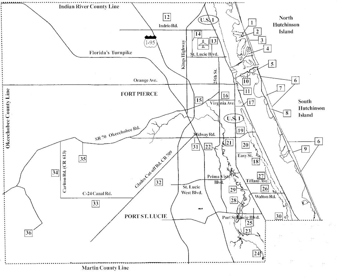 Florida Map Of Port St Lucie
