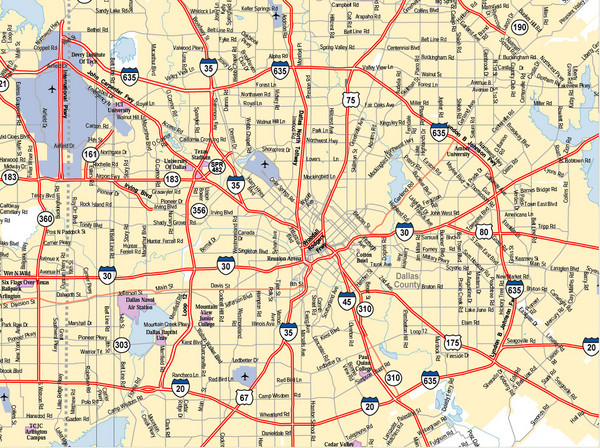 Dallas Map Cities Around Texas