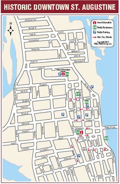 Historic Augustine St Downtown Map