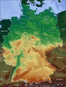 Germany Topo Map   Germany     mappery Fullsize Germany Topo Map