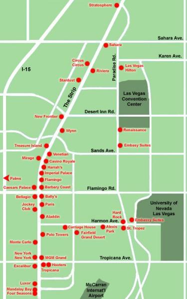Planet Hollywood Las Vegas Map
