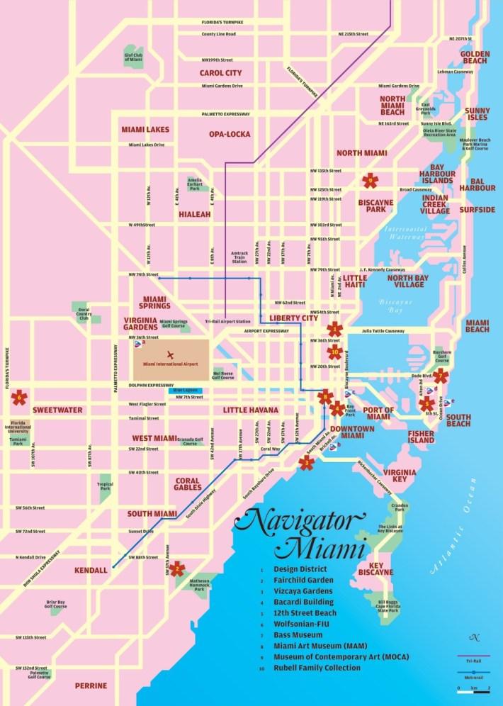miami tourist map - miami florida • mappery