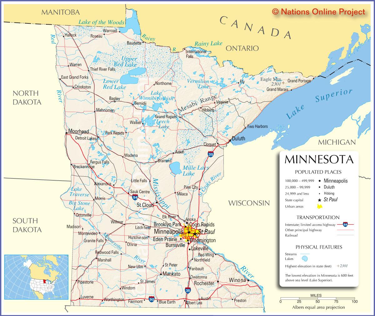 Minneapolis Tourist Map