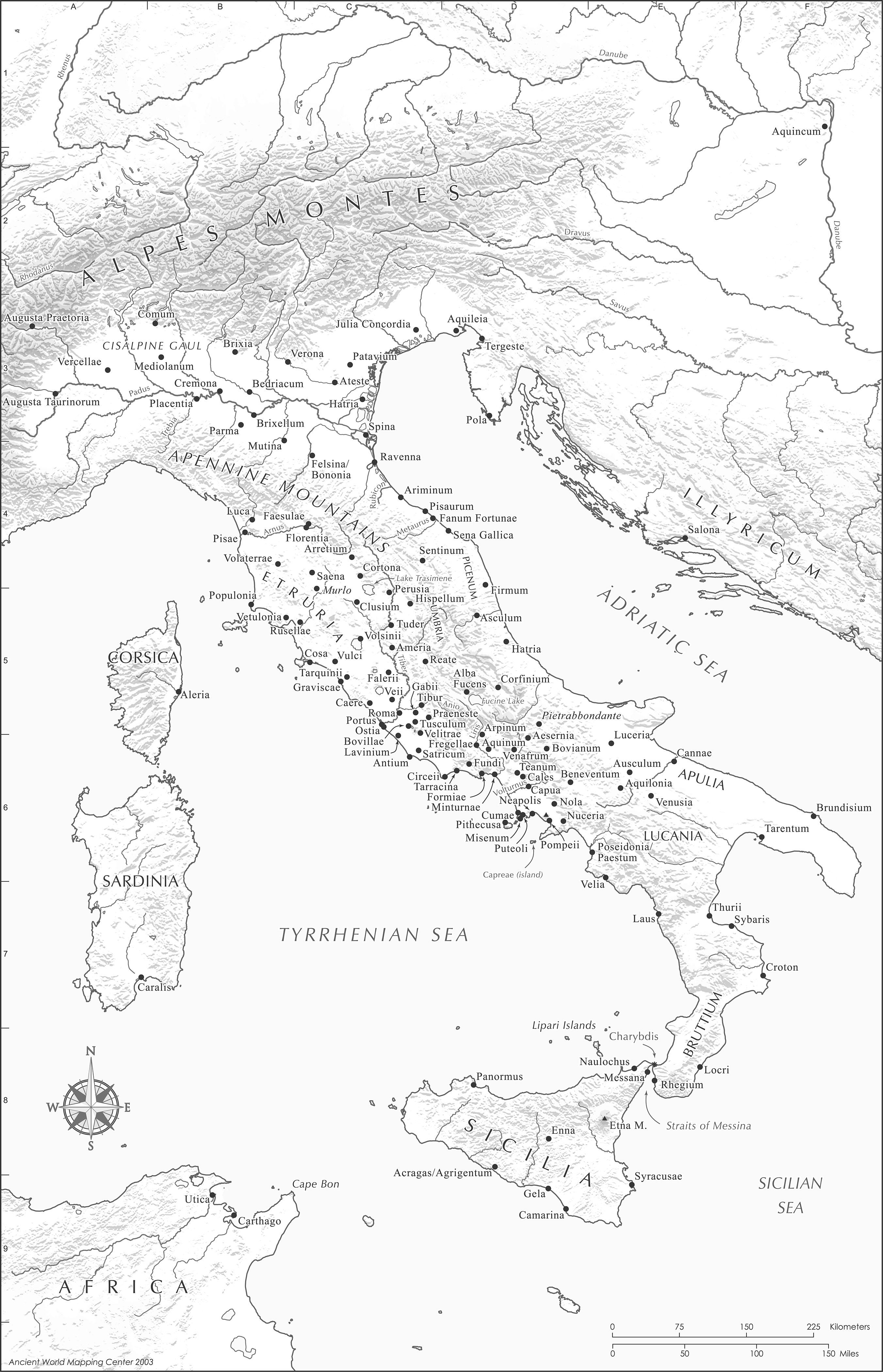 Roman Italy Map