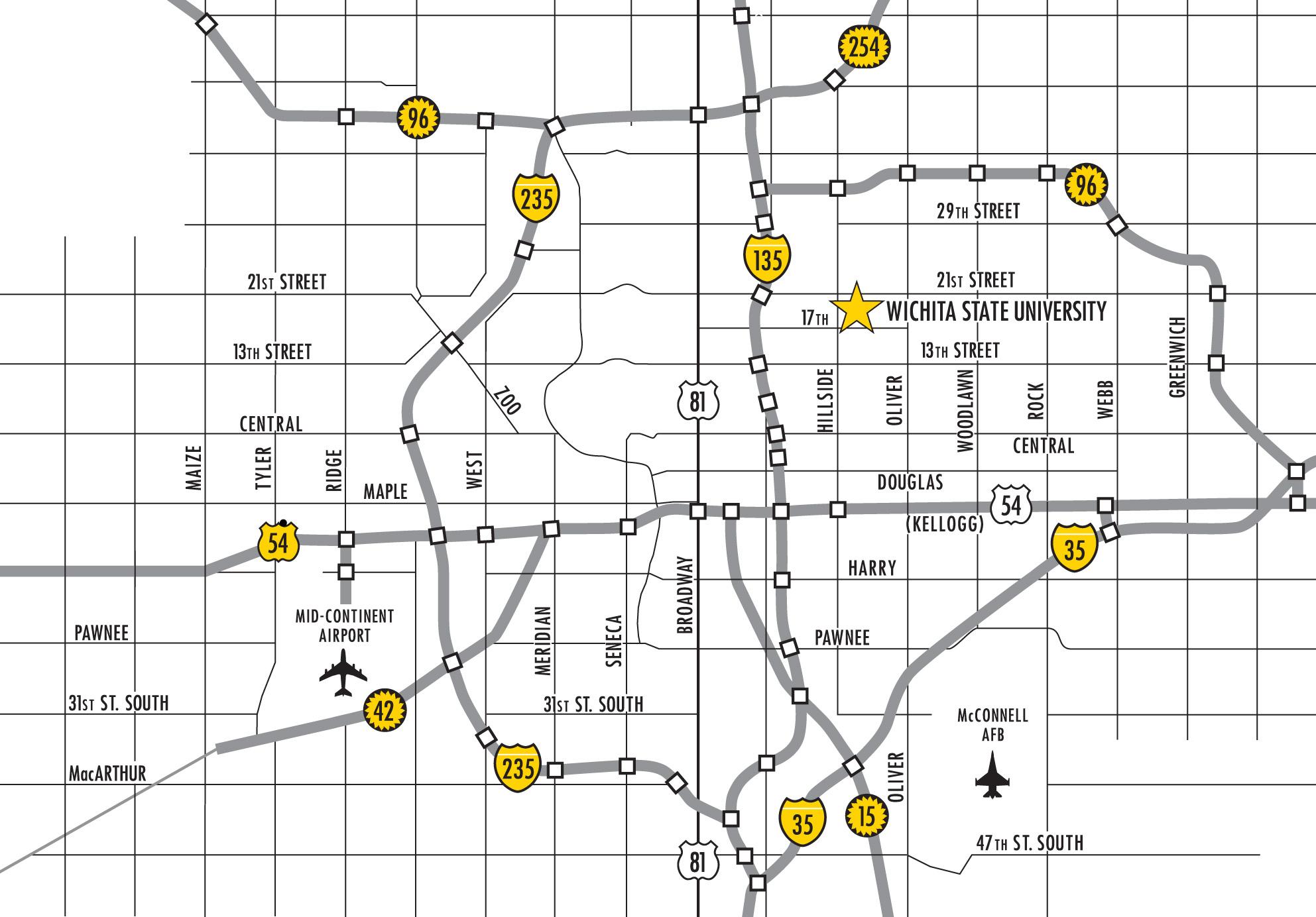 Wichita Kansas City Map