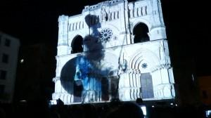 Испанский Кафедральный Собор и архитектурный 3D mapping на его фасаде