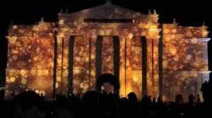Фантастический видеомэппинг на индийском фестивале Mysore Dasara