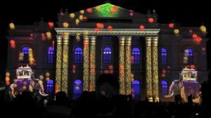 Прекрасный видеомэппинг на индийском фестивале Mysore Dasara
