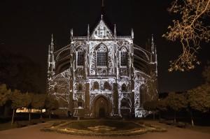 Серебряный 3D mapping на Церковь Святой Варвары