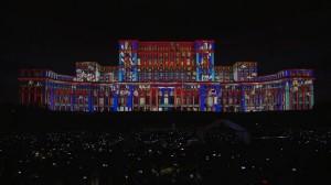 Архитектурный видеомэппинг на фасаде Дворца Парламента