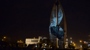 """Видеопроекция на """"Памятник Делу Революции"""""""