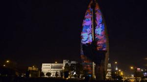 """Архитектурный 3D маппинг и """"Памятник Делу Революции"""""""