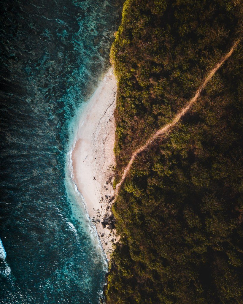 green bowl beach uluwatu bali drone photo