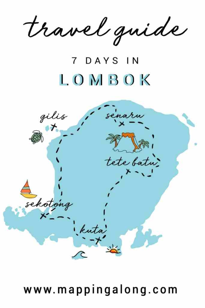 Lombok indonesia itinerary travel guide pinterest cover