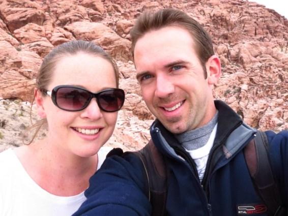 Selfie outside Red Rocks, Vegas.