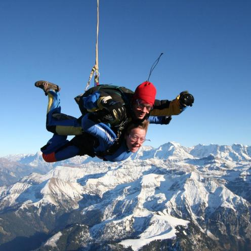 Skydiving in Switzerland!