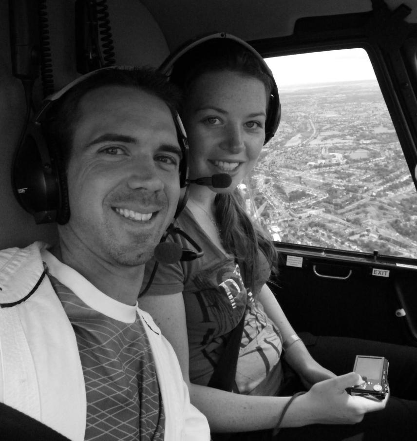 Helicopter sightseeing tour over London.