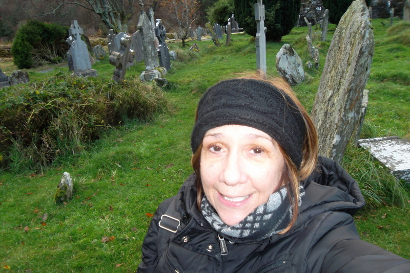 Cathy Goldner of Solo Travelers Alliance.  A Cemetary in Ireland.