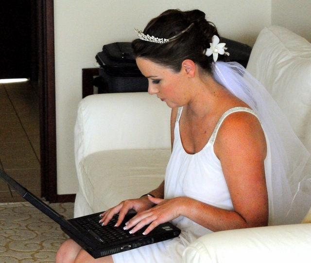 Time and effort. Blogging from my wedding day.