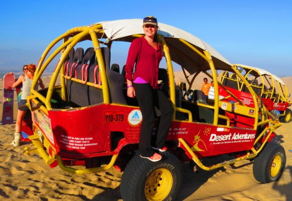 Our futuristic dune buggy.
