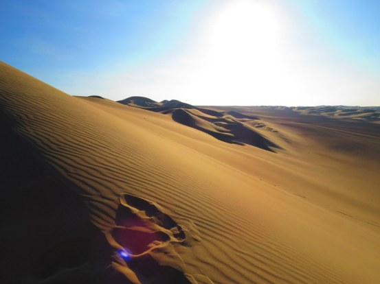Sand dunes of Huacachina.