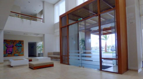 Entrance to the Paracas Resort.