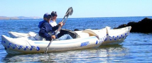 Thankfully our kayaks did not tip!