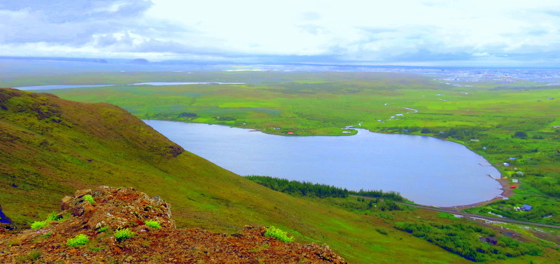 What a view! Panorama over the back country of Reykjavik.