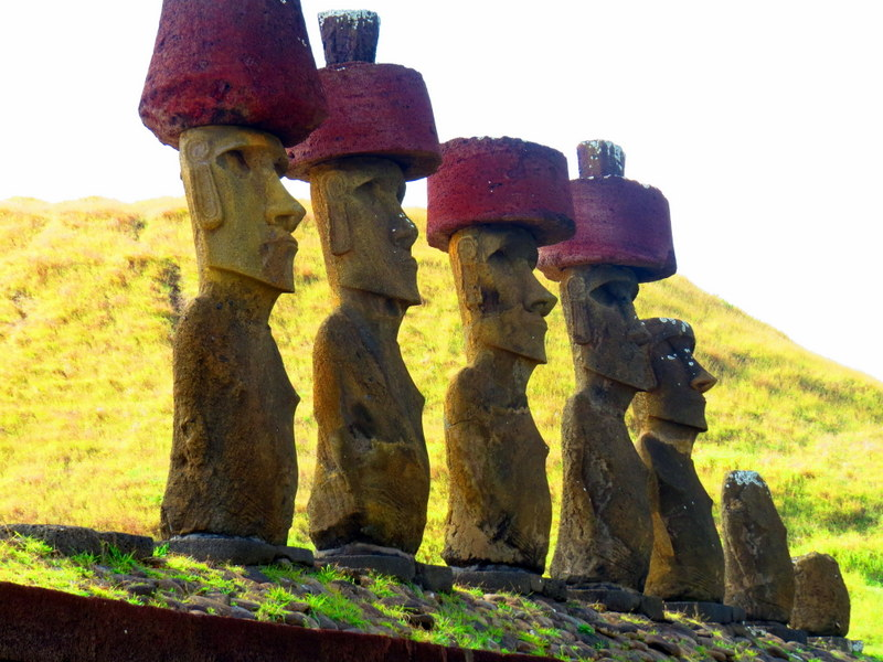 Moai at Anakena beach.