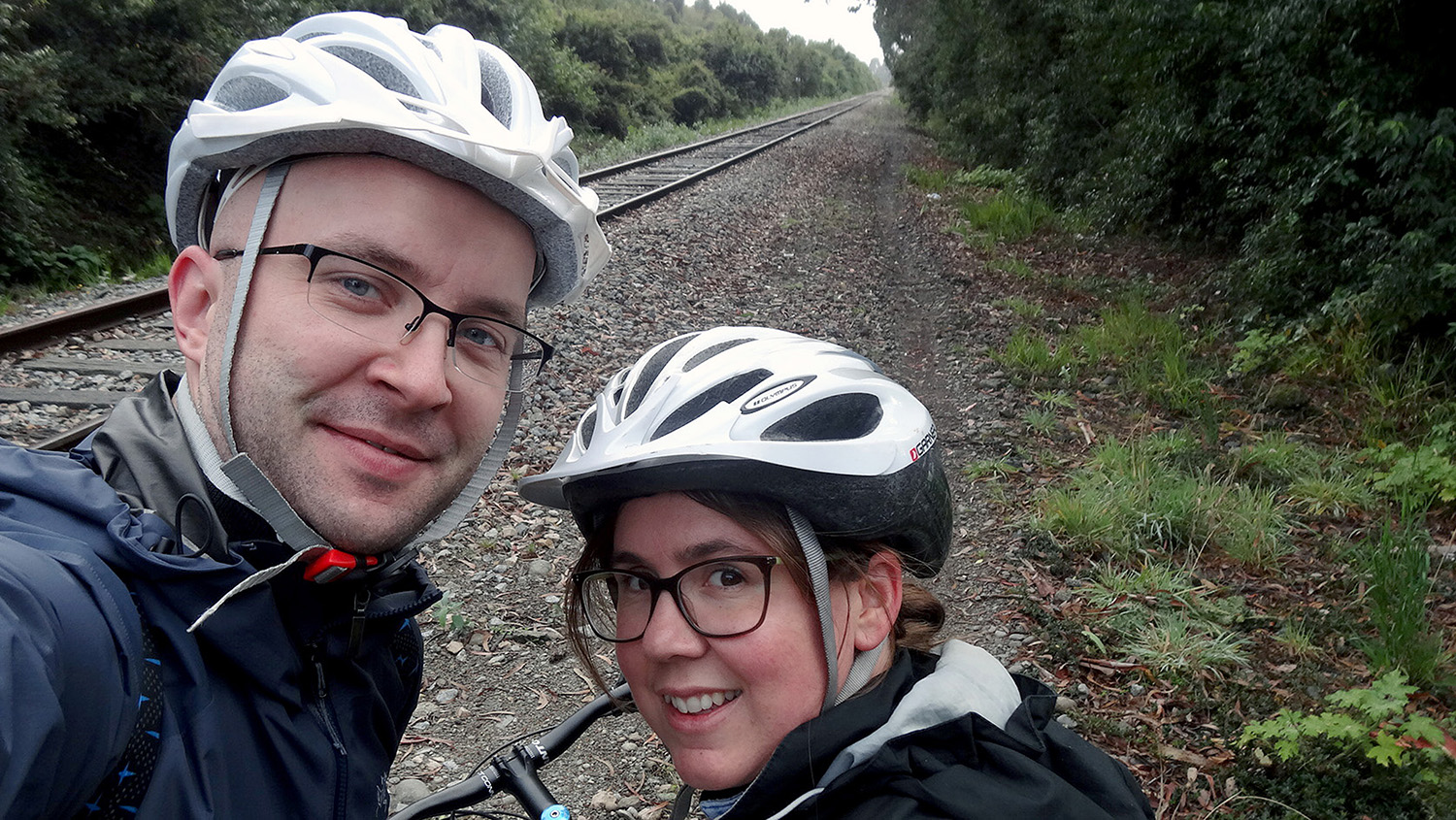 """At the start of a 65-kilometer bike ride from Puerto Varas to Frutillar, Chile. The """"after"""" photos mysteriously disappeared from the camera."""