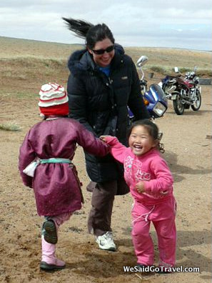 In Mongolia.