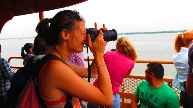 Photographing the famous skyline