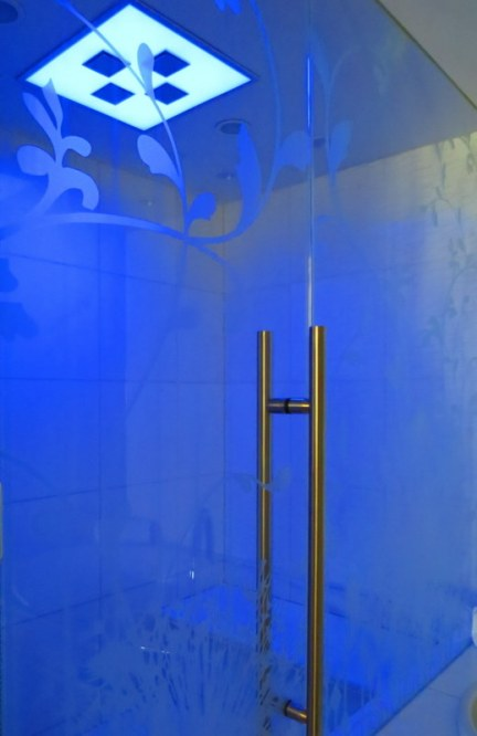 Mood lighting in the shower.