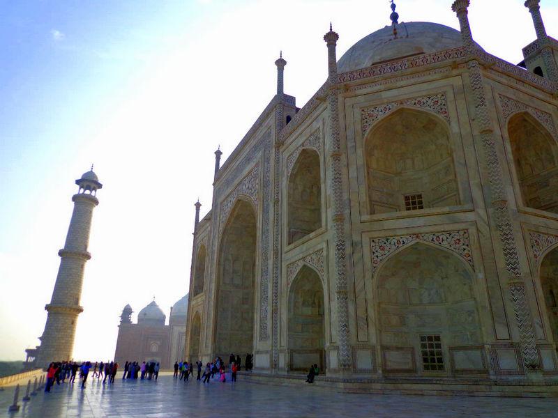 The side of the Taj Mahal