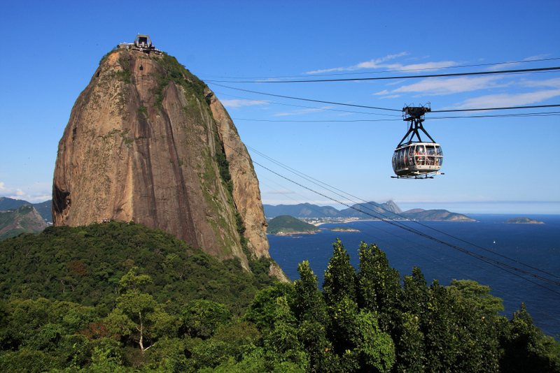 Rio: Lush rainforests which front onto the deep blue sea.