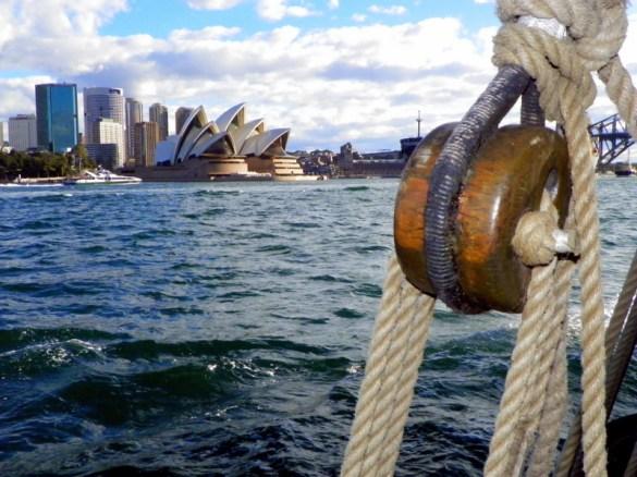 Overlooking Sydney Harbour