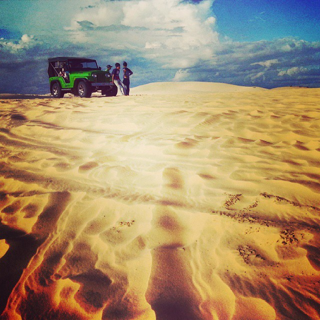 Feeling oh - so epic on the sand dunes of Mui Ne Vietnam