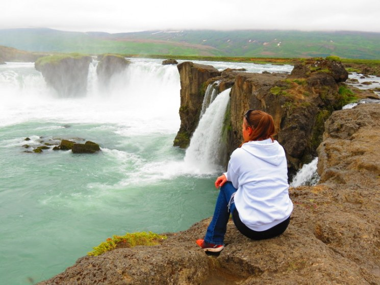 Taking in iceland's inspiring scenery.