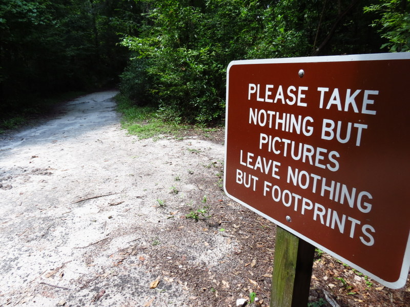 Take nothing but pictures. Leave nothing but footprints.