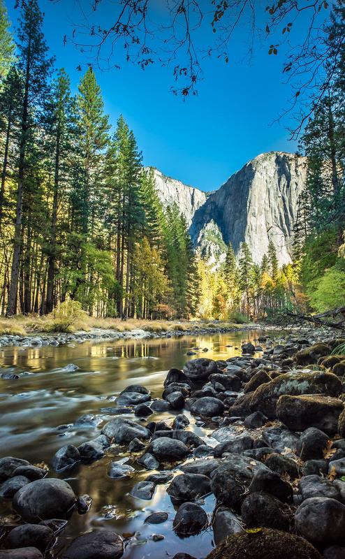 A view of El Capitan, Yosemite National Park.