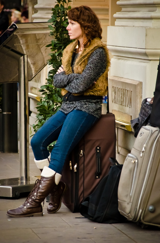 Tourist with Luggage.