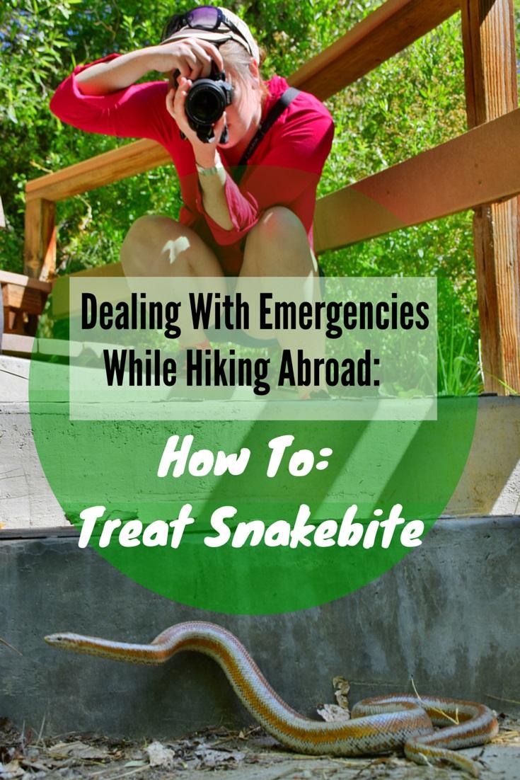 How to treat snakebite.