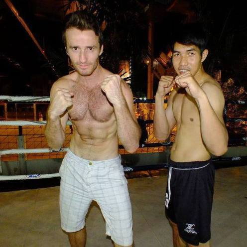 Fighting bouts as a boxer in Thailand, Muay Thai.