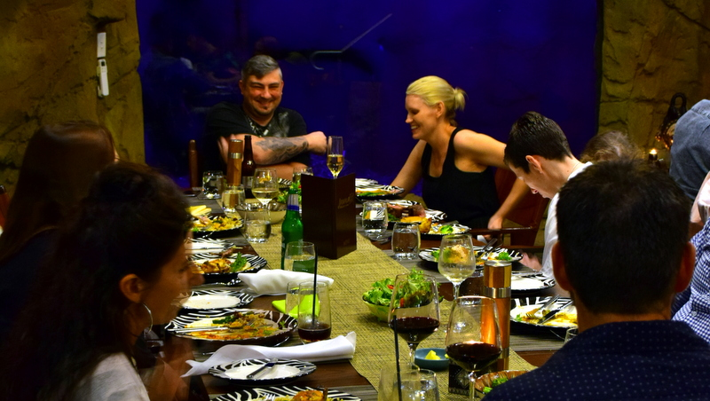 Dining at Jamala is a community event, guests joining each other at long tables in a communal eating area just like a traditional African lodge.