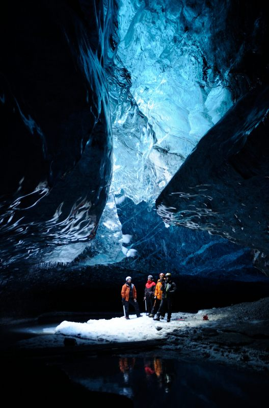 is the largest glacier in Europe and you can go ice caving in it's spectacular ice caves underneath.