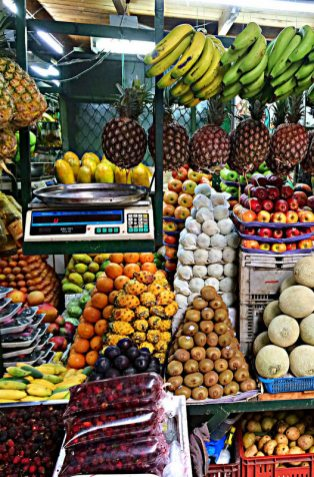 "Medellin is host to the biggest collection of tropical fruits in the planet, and every lunch meal is served with fresh fruit juice. The typical ""Menu del dia"" (Menu of the day) comes with a 3-course meal for literally 3-4 USD."