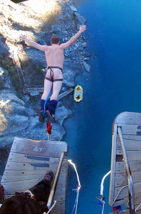 Naked Bungee Jumping in Queenstown, New Zealand!