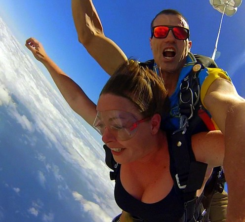 I'm addicted to the jump. I crave the adrenaline at this point. Skydiving is an electrifying experience far more thrilling and intense than any sort of drug.