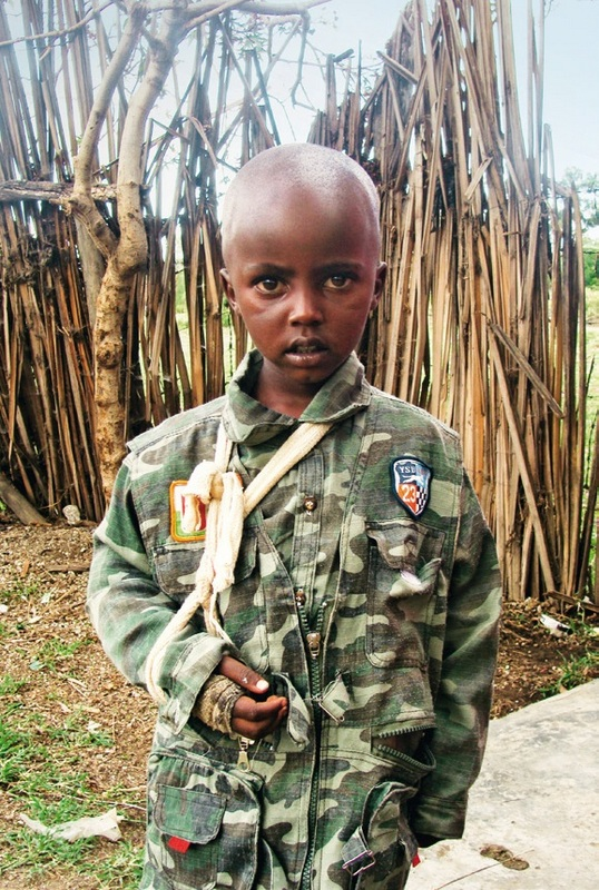 Eight years old an already a war veteran in Central Africa.